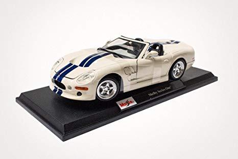 Машина Ford Shelby Serie 1, 1:18, белая, 31142 / Maisto