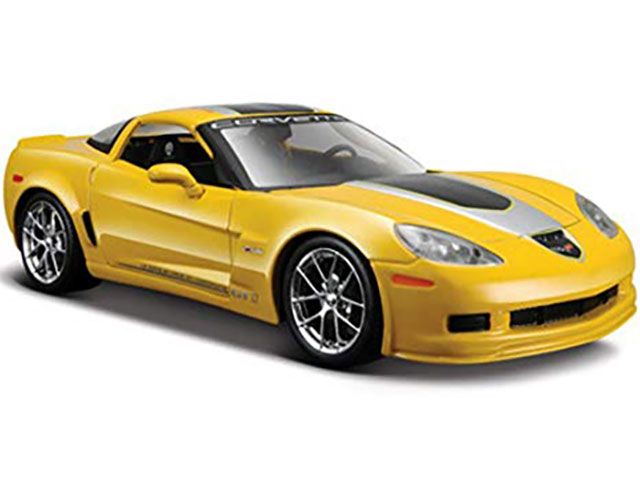 Машина Corvette GT1 2009, 1:24, желтая, 31203 / Maisto
