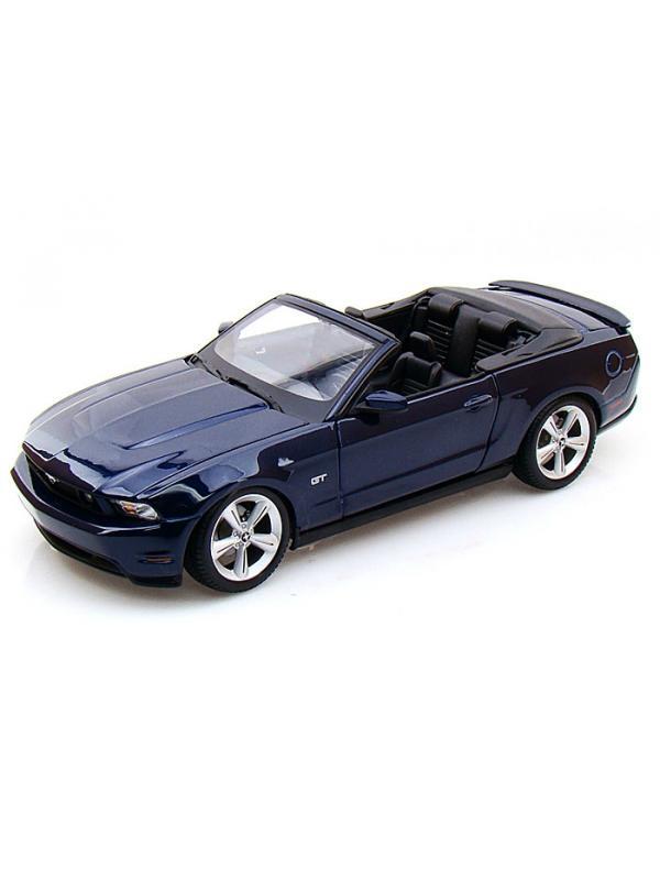 Машина Ford Mustang GT Convertible 2010 г., 1:18, темно-синяя, 31158 / Maisto