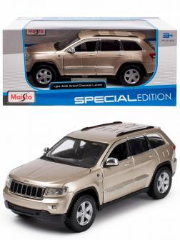 Металлическая машинка Maisto 1:24 «Jeep Grand Cherokee Laredo» 31205 / Бронза
