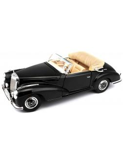 Машина Mercedes Benz 300 S Cabrio 1955 г., 1:18, черная, 31806 / Maisto