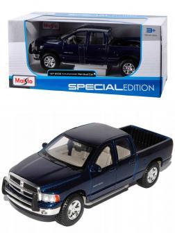 Металлическая машинка Maisto 1:27 «Dodge Ram Quad Cab 2002» 31963 / Синий