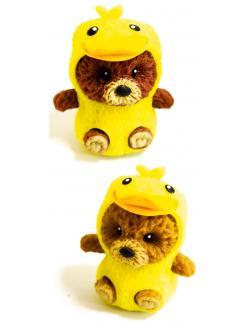 Фигурки-тянучки «Медведи в костюме Утят» из термопластичной резины, 6 см., 2 шт. в пакете / Panawealth
