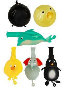 Животные-тянучки надувные шарики А212-ДБ / 4 шт.