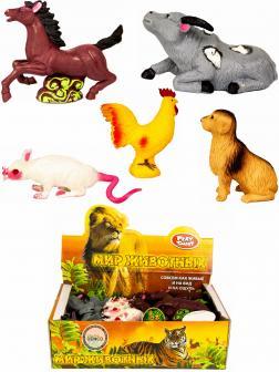 Резиновые фигурки-тянучки Play Smart «Домашние животные с фермы» 7582, 12 см.  / 5 шт.