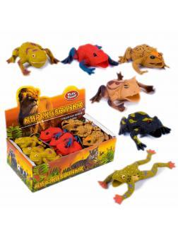 Фигурки-тянучки Play Smart «Жабы» 7429 10 см. Животные из термопластичной резины / 6 Штук