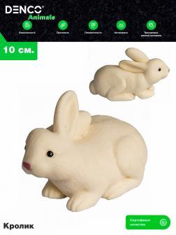 Животные-тянучки Антистресс «Белый Кролик» A148-DB из термопластичной резины / 10 см.