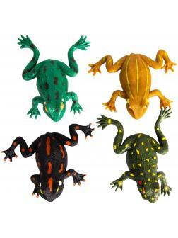 Фигурки-тянучки «Лягушки» A006P 10 см. из термопластичной резины / 4 штуки