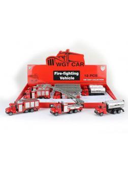 Машинка метал Пожарная 12шт (1шт) в ассортименте