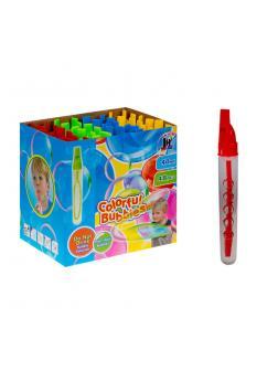 Большие мыльные пузыри 40 мл. со свистком «Colorful Bubbles» 325