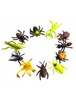 Набор насекомые-тянучки из термопластичной резины 3-4 см. 11 шт., 1004