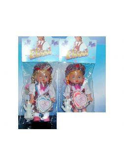 Кукла Eliana музыкальная с собачкой, 2 вида