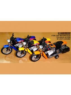 Мотоцикл инерц метал Звук и свет 12шт (1шт) в ассортименте