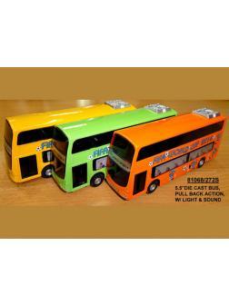 Автобус инерц метал Звук и свет 12шт (1шт) в ассортименте