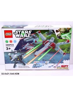 Конструктор COGO «Битва космических перехватчиков» + Пазл 80013 (Star Wars) / 386 деталей