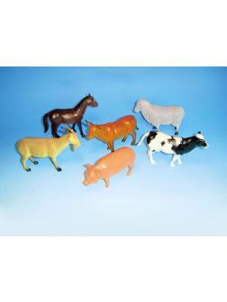 Животные резиновые «Ферма» 12шт (1шт)