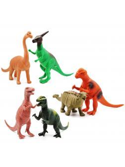 Набор фигурок Динозавров «Мир юрского периода» Н386W 23-28 см. с пищащим механизмом / 6 шт.