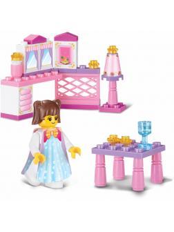 Конструктор Sluban Розовая мечта «Завтрак принцессы» M38-B0238 / 35 деталей