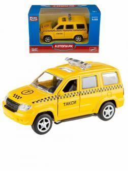 Металлическая машинка Play Smart 1:50 «УАЗ Патриот: Такси» 10 см. 6403-B Автопарк, инерционная