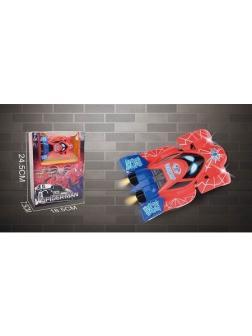 Спорт кар Spiderman + свет на батарейках в коробке 24.5х7х18см