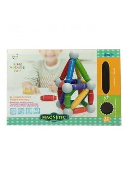 Конструктор Магнетик блок для малышей 32 дет. 36х27.5х10см