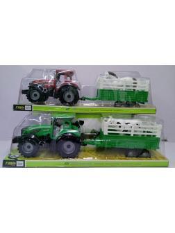 Трактор с прицепом в блистере 2 вида