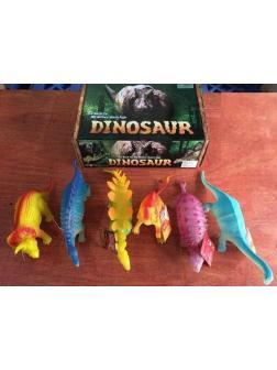 Животные резиновые Динозавры большие в упаковке 6шт 40х17х14см