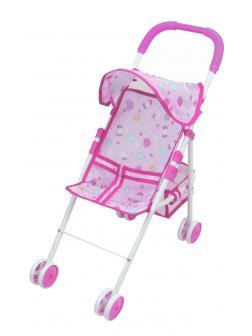 Детская складная коляска для кукол с козырьком / 45881