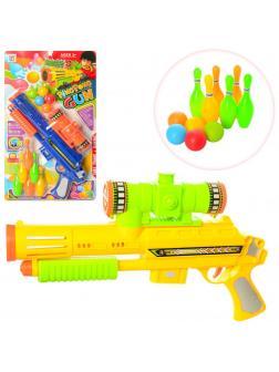 Игровой набор Бластер с шариками и кеглями 648-19 / Микс