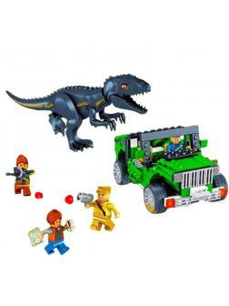 Конструктор 818 «Нападение Индораптора» 82029 (Jurassic World) 277 деталей
