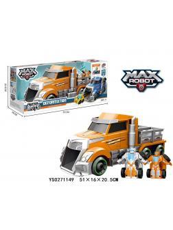 Трансформер авторобот Max оранжевый в коробке 51х16х21см