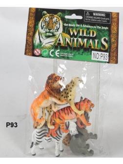 Набор фигурок Дикие животные 6шт в пакете 25х17х5см