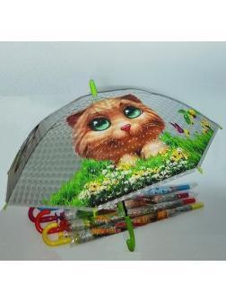 Зонтик детский Зверята Микс прозрачный
