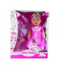 Интерактивная кукла Yale Baby YL1899U, 8 функций, с аксессуарами, высота 38 см