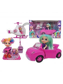 Набор Кукла Hairdorables на Машине с вертолетом
