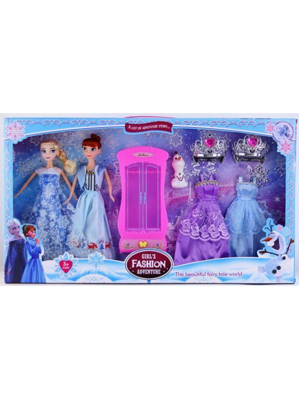 Набор кукол Frozen с платьями и шкафом 505F, в коробке