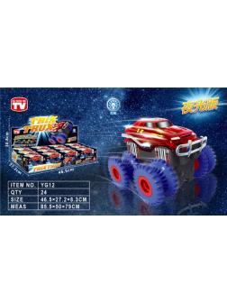 Гоночные машинки Trix Truk со светоом 12 шт в упаковке