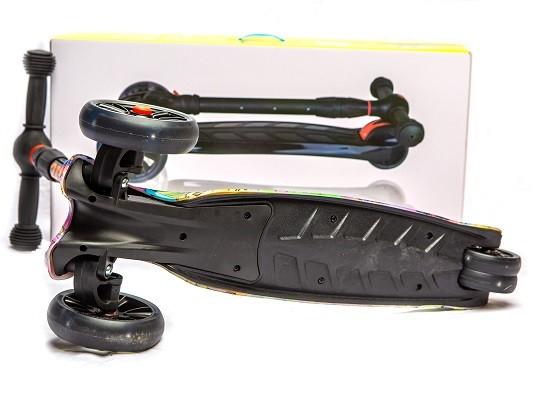 Самокат детский складной 21st Scooter «MAXI Граффити» (SL-10Z) / Микс