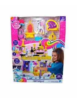 Замок Canterlot My Little Pony с пони, короной и мебелью 2 этажа, в коробке