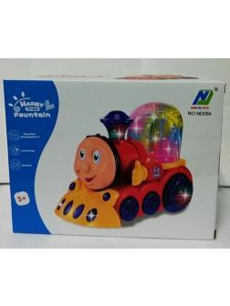 Паровозик Томас свет+музыка для малышей в кор. 20х12х16см