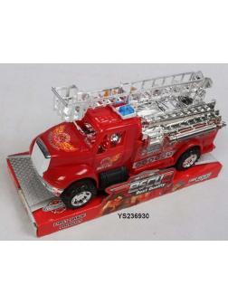 Пожарная машина инерционная в блистере 22х14х10см