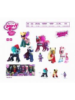 Набор Супер Пони со светящимися крыльями, свет+звук 6 видов в коробке 70х15х26см
