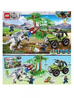 Конструктор 818 «Нападение Индоминуса Рекса» 82161 (Jurassic World) 398 деталей