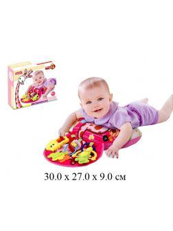 Развивающий коврик подушка с игрушками 023-23G / 18 деталей