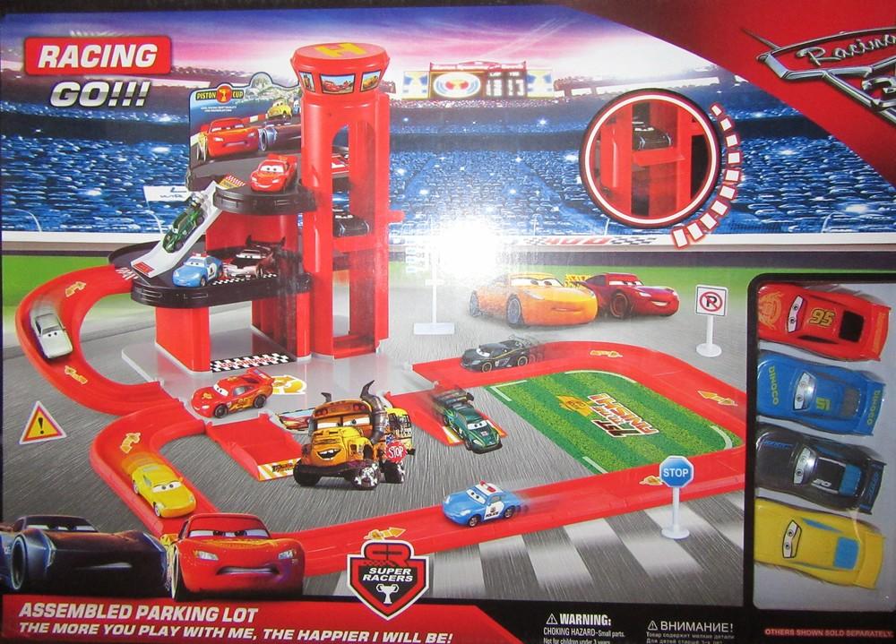 Парковка-трек «Cars Parking Lot» с горкой-спуском и машинками 6339