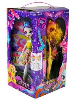 Кукла Пони шарнирная 4х сторонняя, 4 шт в коробке MG-19B
