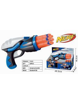 Бластер NERF с мягкими пулями в коробке 25.5х8.4х19.5
