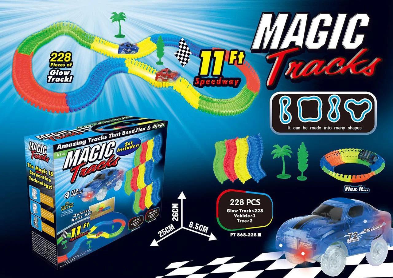 Гибкий трек «Magic Tracks» 228 деталей, светящийся