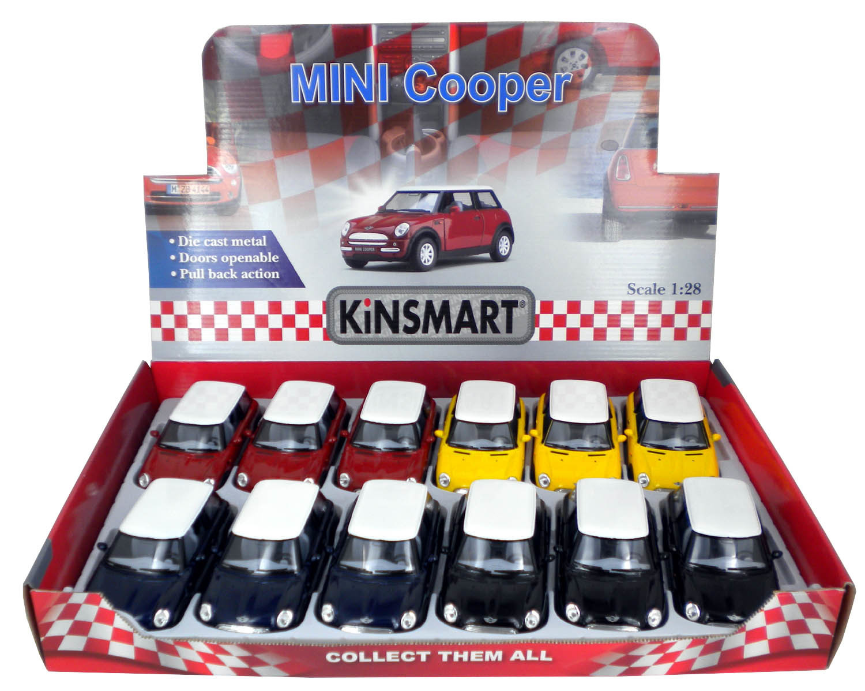 Металлическая машинка Kinsmart 1:28 «Mini Cooper» KT5042D, инерционная