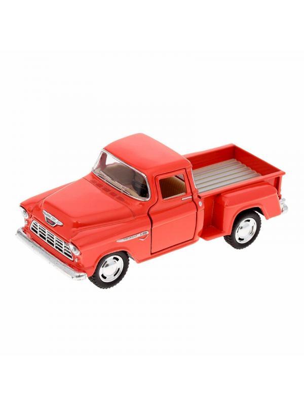 Металлическая машинка Kinsmart 1:32 «1955 Chevy Stepside Pick-up» KT5330D, инерционная / Микс